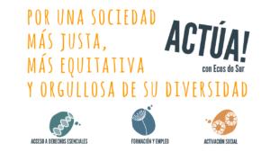 Acción social de Ecos do Sur - Justicia social, Igualdad y Diversidad